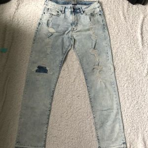 Washed style jeans